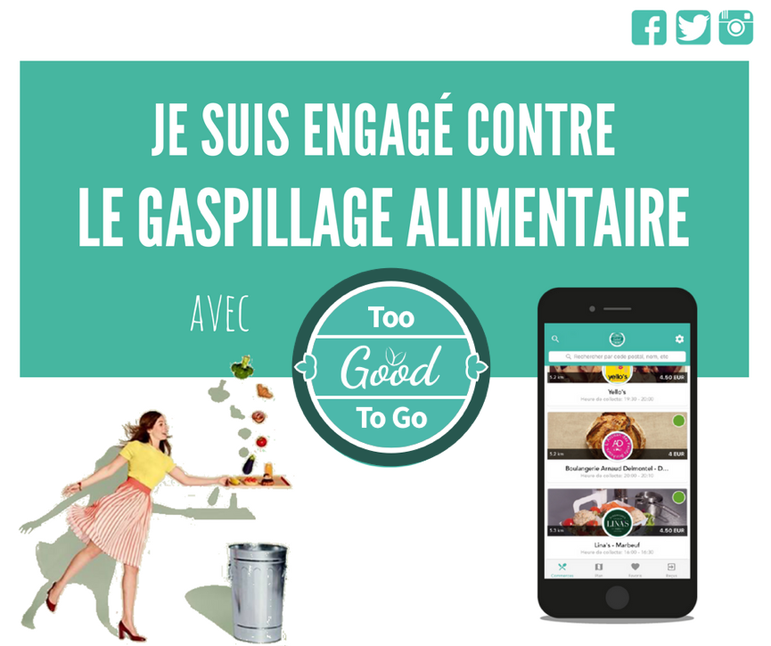 Regain engagé contre le gaspillage alimentaire avec Too Good To Go